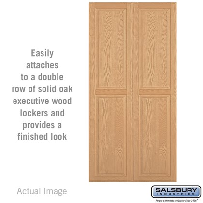 Double End Side Panel - for 21 Inch Deep Solid Oak Executive Wood Locker