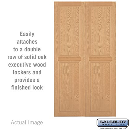 Double End Side Panel - for 24 Inch Deep Solid Oak Executive Wood Locker
