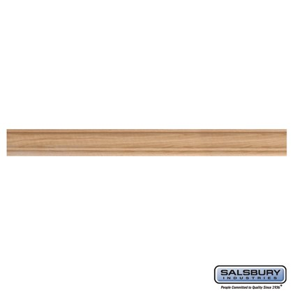 Crown Molding - for Solid Oak Executive Wood Lockers - Six (6) Foot Length with Straight Edges