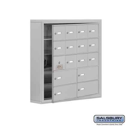 Cell Phone Storage Locker - with Front Access Panel - 5 Door High Unit (5 Inch Deep Compartments) - 12 A Doors (11 usable) and 4 B Doors - Surface Mounted - Master Keyed Locks