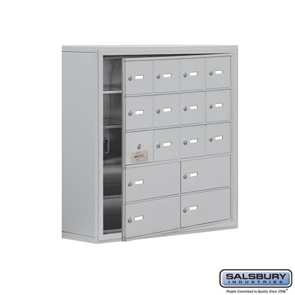 Cell Phone Storage Locker - with Front Access Panel - 5 Door High Unit (8 Inch Deep Compartments) - 12 A Doors (11 usable) and 4 B Doors - Surface Mounted - Master Keyed Locks