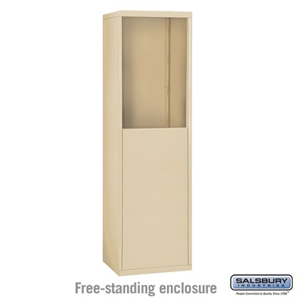 Free-Standing Enclosure for #19158-15 - Recessed Mounted Cell Phone Lockers - Sandstone
