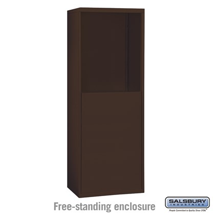 Free-Standing Enclosure for #19158-16 and #19158-20 - Recessed Mounted Cell Phone Lockers - Bronze