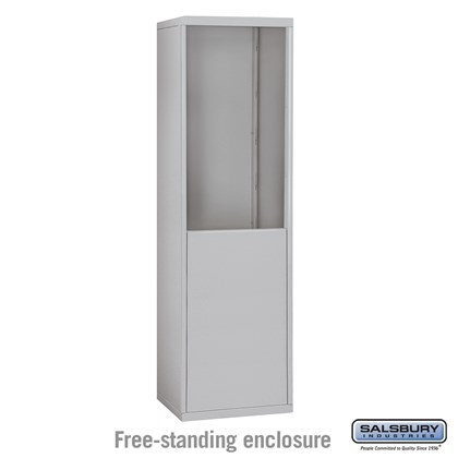 Custom Free-Standing Enclosure for #19065-18, #19068-18, #19165-18 and #19168-18 - Recessed Mounted Cell Phone Lockers