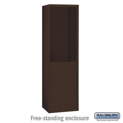 Custom Free-Standing Enclosure for #19065-18, #19068-18, #19165-18 and #19168-18 - Recessed Mounted Cell Phone Lockers - Bronze