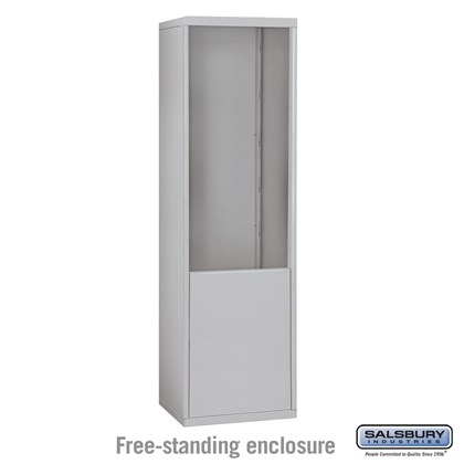 Custom Free-Standing Enclosure for #19075-21, #19078-21, #19175-21 and #19178-21 - Recessed Mounted Cell Phone Lockers