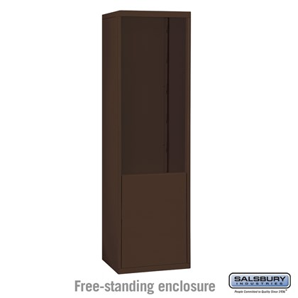 Custom Free-Standing Enclosure for #19075-21, #19078-21, #19175-21 and #19178-21 - Recessed Mounted Cell Phone Lockers - Bronze