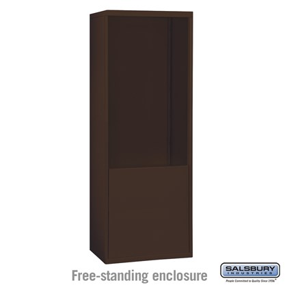 Custom Free-Standing Enclosure for #19075-24, #19078-24, #19175-24 and #19178-24 - Recessed Mounted Cell Phone Lockers - Bronze