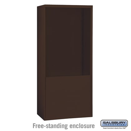 Custom Free-Standing Enclosure for #19075-35, #19078-35, #19175-35 and #19178-35 - Recessed Mounted Cell Phone Lockers - Bronze