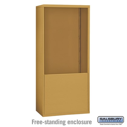 Free-Standing Enclosure for #19075-35, #19078-35, #19175-35 and #19178-35 - Recessed Mounted Cell Phone Lockers - Gold