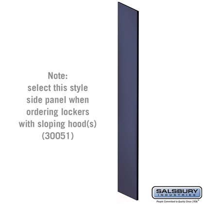 Side Panel - for Open Access Designer Locker and Designer Gear Locker - 18 Inches Deep - with Sloping Hood - Blue
