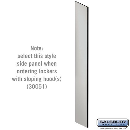 Side Panel - for Open Access Designer Locker and Designer Gear Locker - 18 Inches Deep - with Sloping Hood