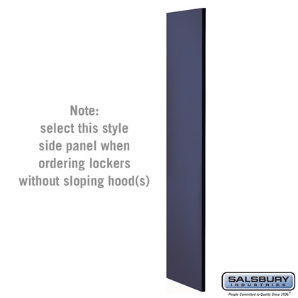 Side Panel - for Open Access Designer Locker and Designer Gear Locker - 24 Inches Deep - without Sloping Hood - Blue