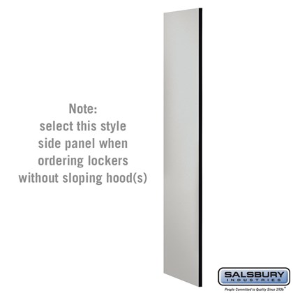 Side Panel - for Open Access Designer Locker and Designer Gear Locker - 24 Inches Deep - without Sloping Hood