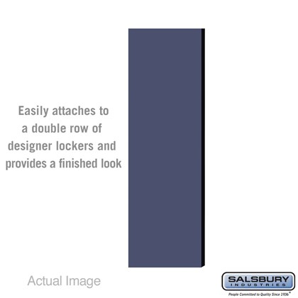 Double End Side Panel - for 5 Feet High - 18 Inch Deep Designer Wood Locker - without Sloping Hood - Blue