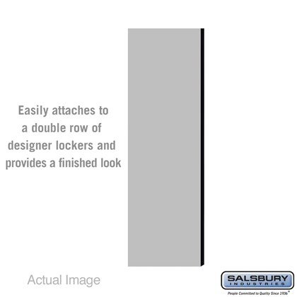 Double End Side Panel - for 5 Feet High - 18 Inch Deep Designer Wood Locker - without Sloping Hood