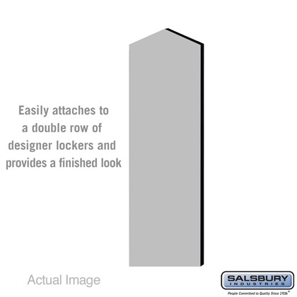 Double End Side Panel - for 5 Feet High - 18 Inch Deep Designer Wood Locker - with Sloping Hood