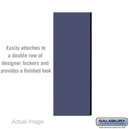 Double End Side Panel - for 5 Feet High - 21 Inch Deep Designer Wood Locker - without Sloping Hood - Blue