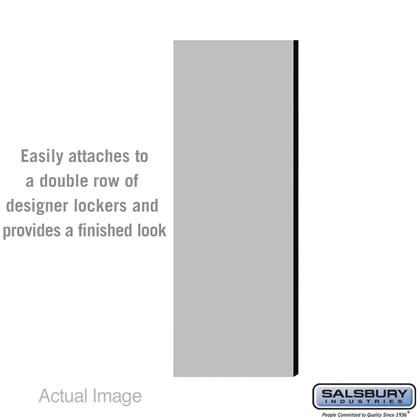 Double End Side Panel - for 5 Feet High - 21 Inch Deep Designer Wood Locker - without Sloping Hood