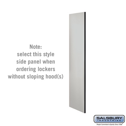 Side Panel - for 5 Feet High - 21 Inch Deep Designer Wood Locker - without Sloping Hood