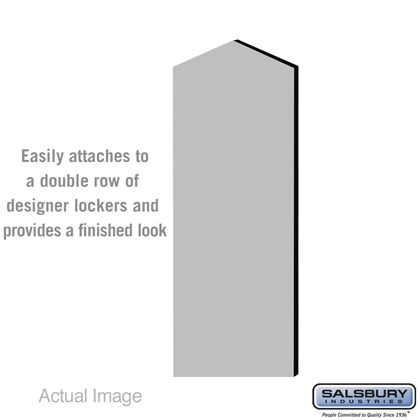 Double End Side Panel - for 5 Feet High - 21 Inch Deep Designer Wood Locker - with Sloping Hood