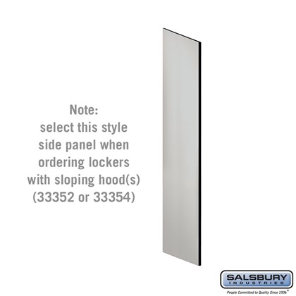 Side Panel - for 5 Feet High - 21 Inch Deep Designer Wood Locker - with Sloping Hood