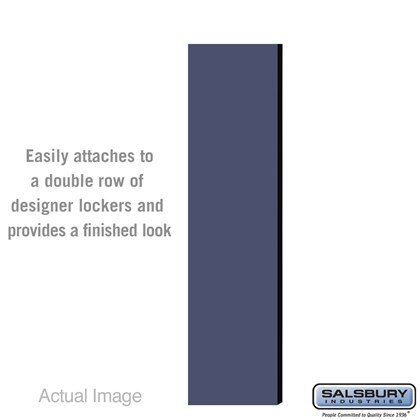 Double End Side Panel - for 6 Feet High - 15 Inch Deep Designer Wood Locker - without Sloping Hood - Blue