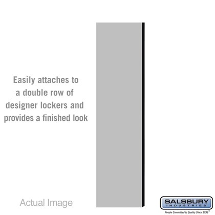 Double End Side Panel - for 6 Feet High - 15 Inch Deep Designer Wood Locker - without Sloping Hood