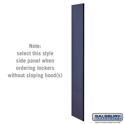 Side Panel - for 6 Feet High - 18 Inch Deep Designer Wood Locker - without Sloping Hood - Blue
