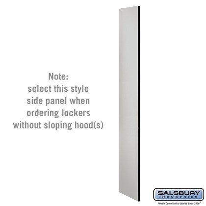 Side Panel - for 6 Feet High - 18 Inch Deep Designer Wood Locker - without Sloping Hood
