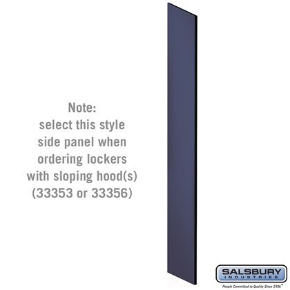 Side Panel - for 6 Feet High - 18 Inch Deep Designer Wood Locker - with Sloping Hood - Blue