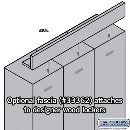 Front Filler - Fascia - for Designer Lockers - Blue