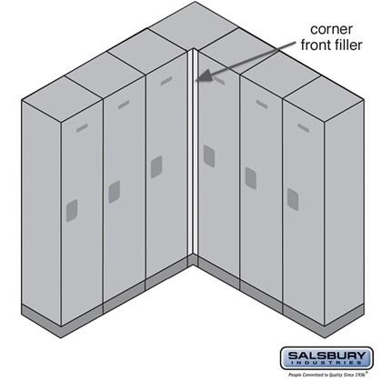 Front Filler - Vertical - Corner - for Designer Wood Lockers - Black
