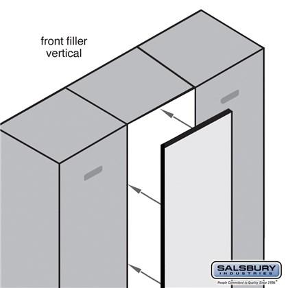 Front Filler - Vertical - 15 Inches Wide for Designer Wood Locker