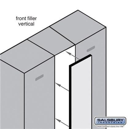 Front Filler - Vertical - 9 Inches Wide for Designer Wood Locker - Blue