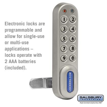 Electronic Lock - for Open Access Designer Wood Locker and Designer Gear Locker Door