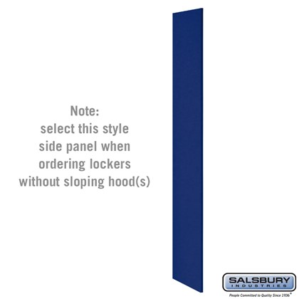 Side Panel - for Heavy Duty Plastic Locker - without Sloping Hood - Blue