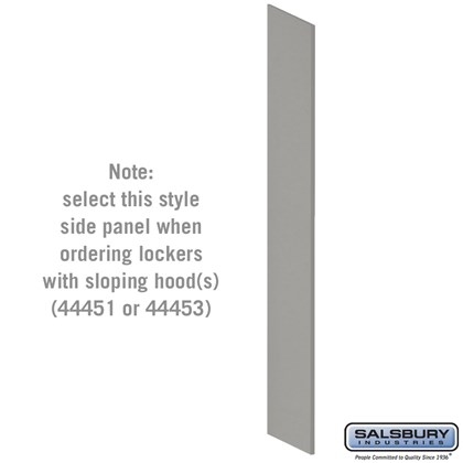 Side Panel - for Heavy Duty Plastic Locker - with Sloping Hood