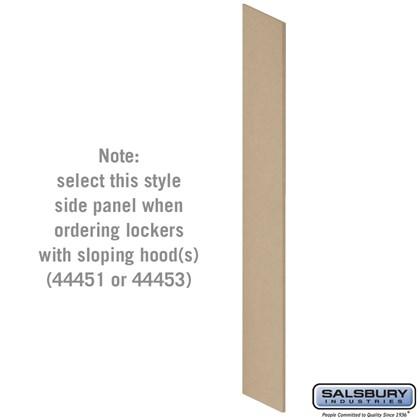 Side Panel - for Heavy Duty Plastic Locker - with Sloping Hood - Tan