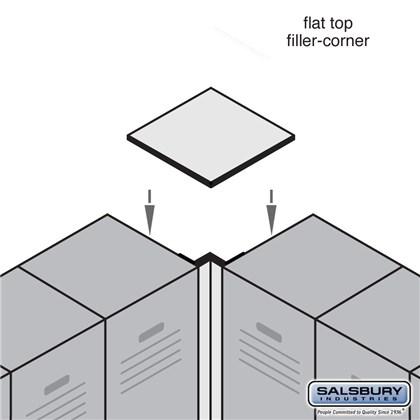 Flat Top Filler - Corner - for Heavy Duty Plastic Locker - Tan