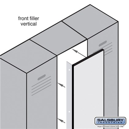 Front Filler - Vertical - 15 Inches Wide for Heavy Duty Plastic Locker