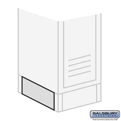 End Base - for 12 Inch Deep Metal Locker - Tan