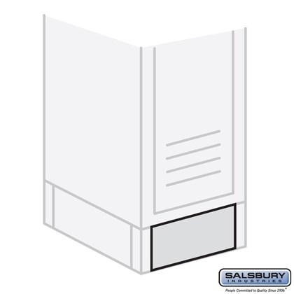 Front Base - for 15 Inch Wide Metal Locker - Tan