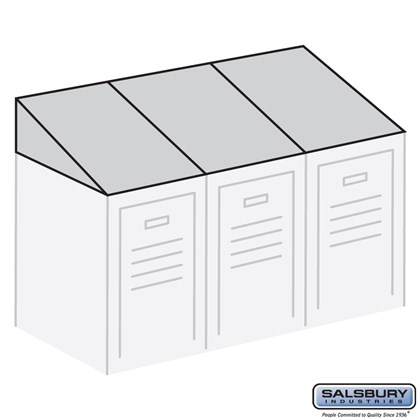 Sloping Hood - for up to (3) 12 Inch Wide and 15 Inch Deep Metal Lockers - Tan