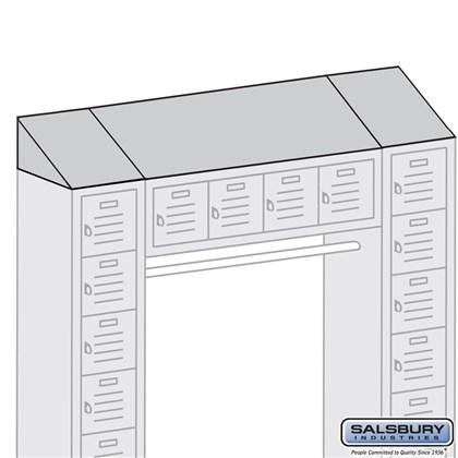 Sloping Hood - for Box Style Bridge Locker - 18 Inch Deep - Blue