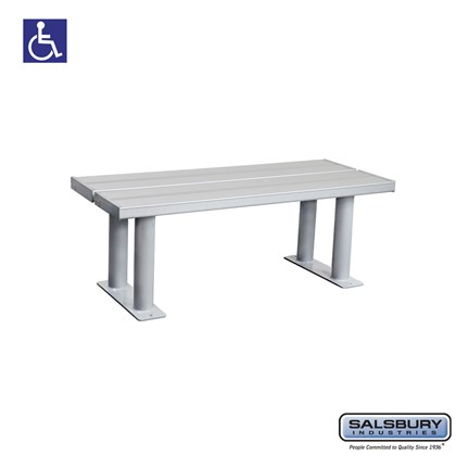 Aluminum ADA Locker Bench - 42 Inches Wide