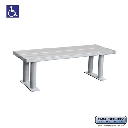 Salsbury Aluminum ADA Locker Bench - 48 Inches Wide
