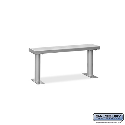 Aluminum Locker Bench - 48 Inches Wide