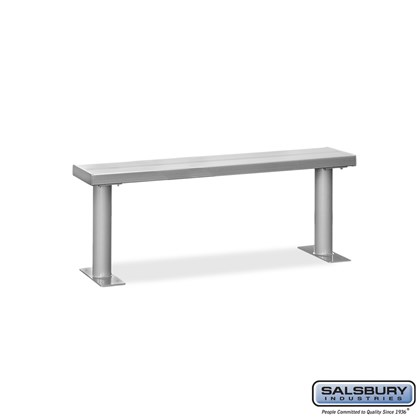 Aluminum Locker Bench - 60 Inches Wide