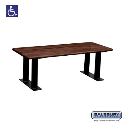 Salsbury Wood ADA Locker Bench - 48 Inches Wide - Dark Finish